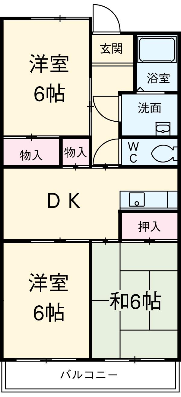 ウィンザ-K&Y・403号室の間取り
