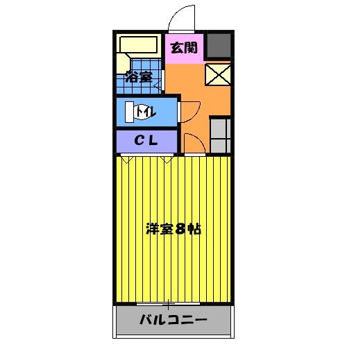 ティエリア豊田・C6号室の間取り