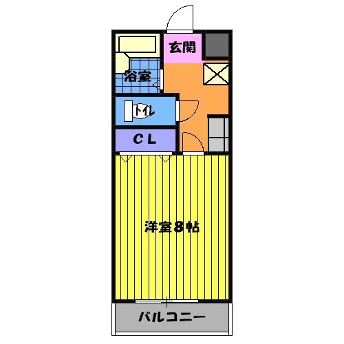 ティエリア豊田・D5号室の間取り