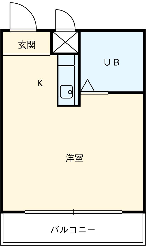 コンパート21・3I号室の間取り