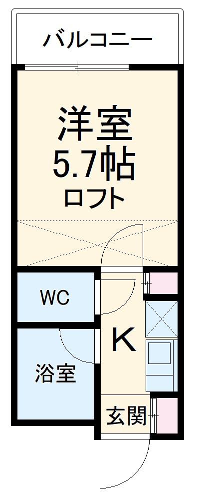 アップル春日井・208号室の間取り