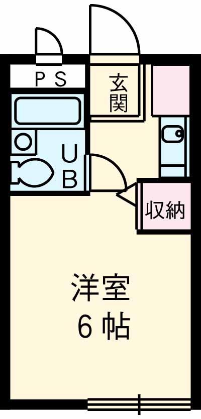 パシフィック桜木 206号室の間取り
