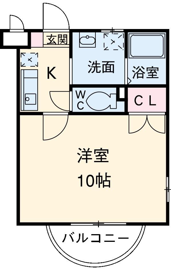 コンフォート梅村・102号室の間取り