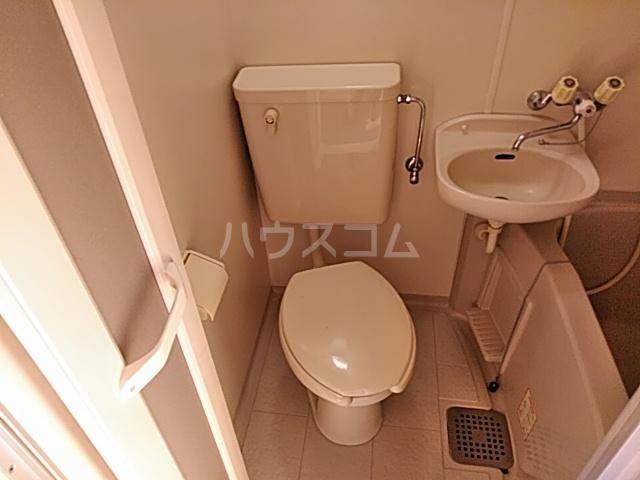 ハイドアウト園 102号室のトイレ
