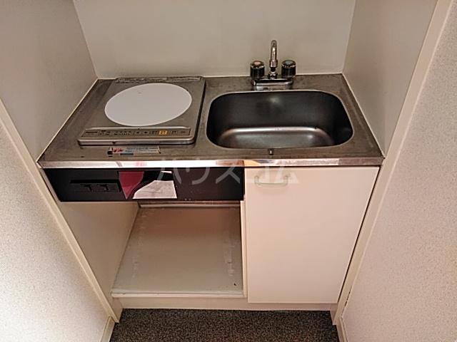 ハイドアウト園 204号室のキッチン