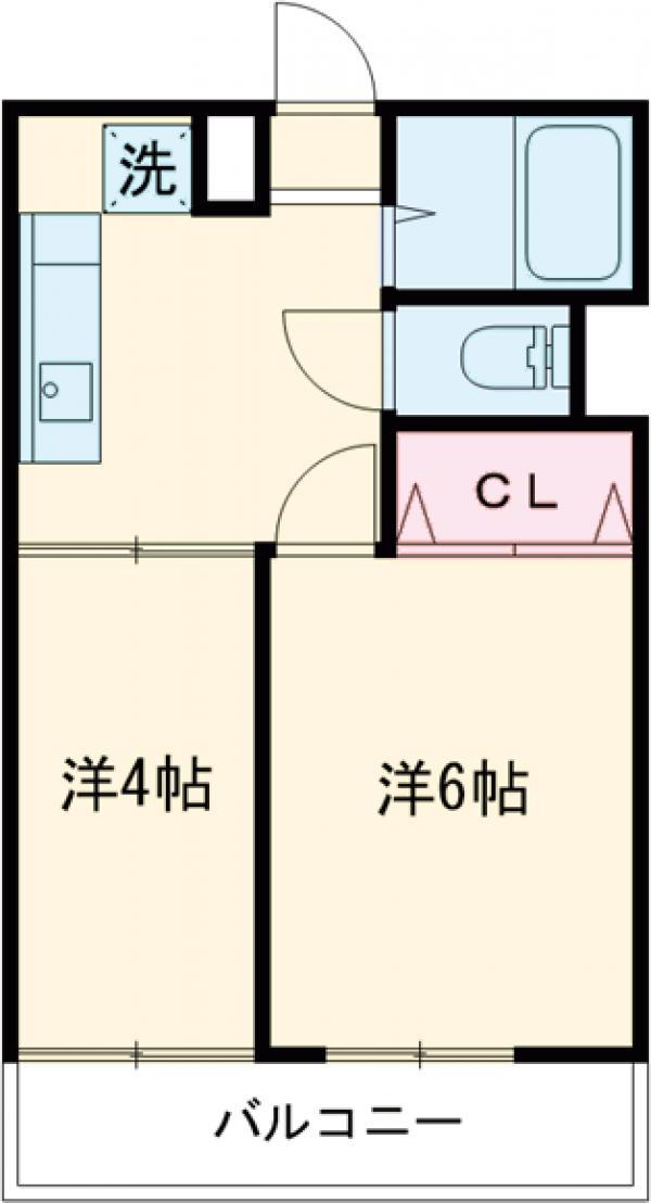 志村三丁目フラワーホーム・413号室の間取り
