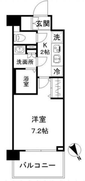 N-stage AkabaneShimo・512号室の間取り