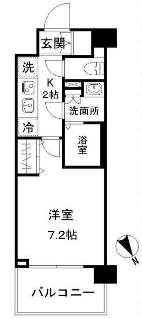 N-stage AkabaneShimo・612号室の間取り