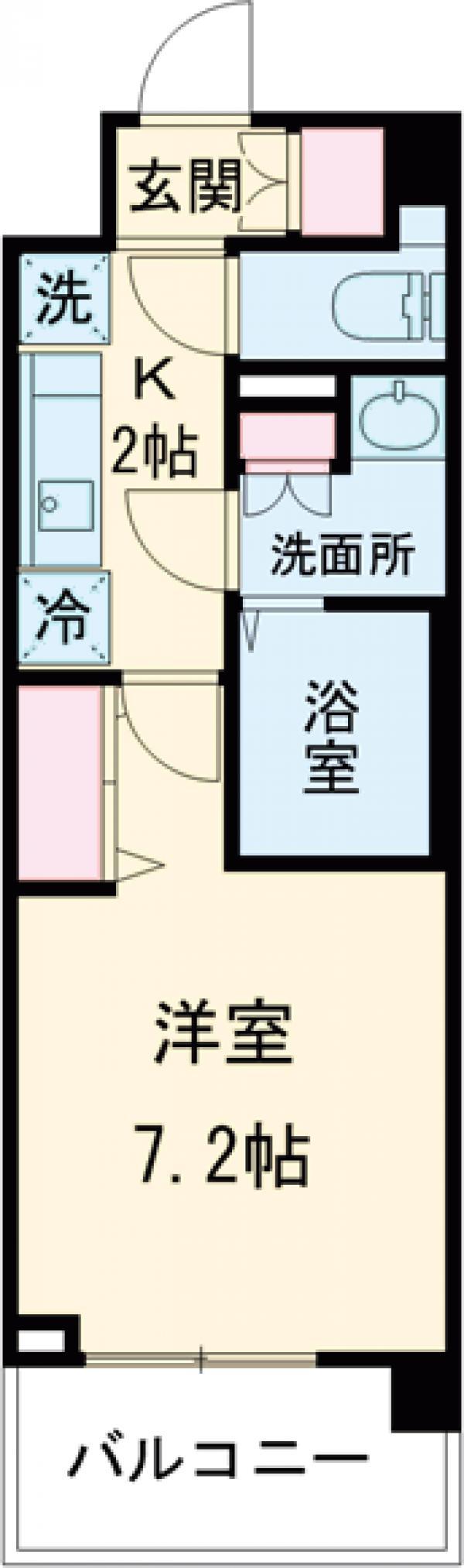 N-stage AkabaneShimo・617号室の間取り