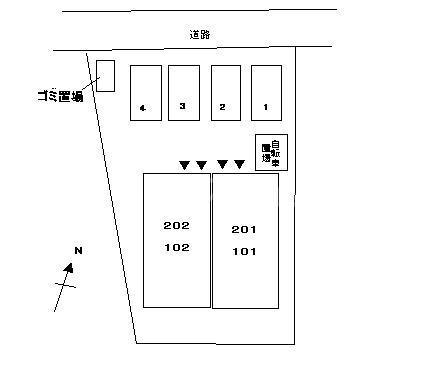 スィーニ 02010号室の駐車場