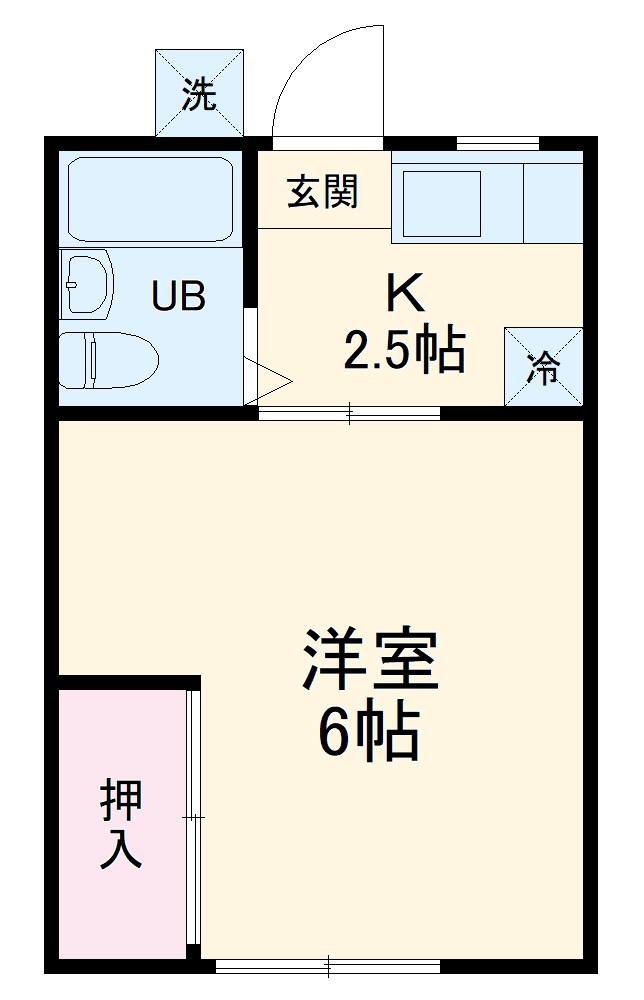 小澤荘 202号室の間取り