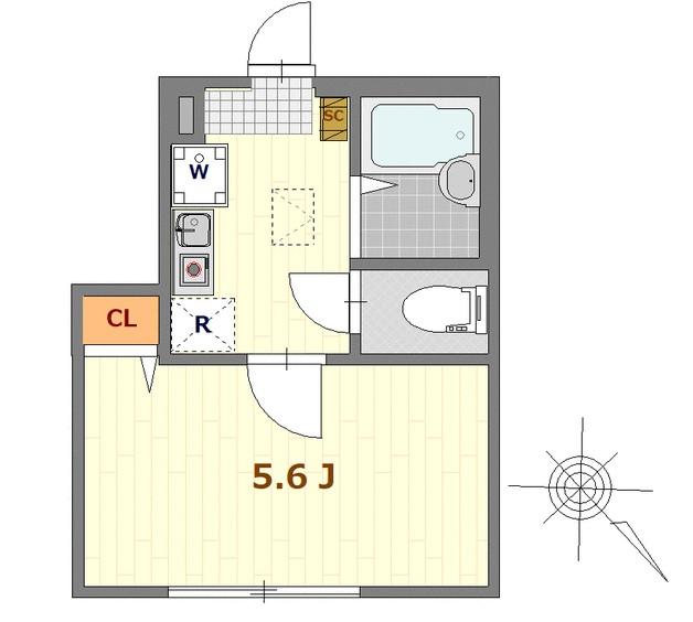 バーミープレイス西新宿・102号室の間取り
