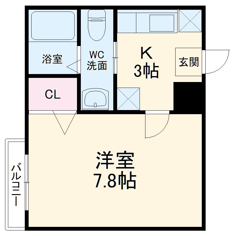 a&m Court enmachiⅡ 301号室の間取り