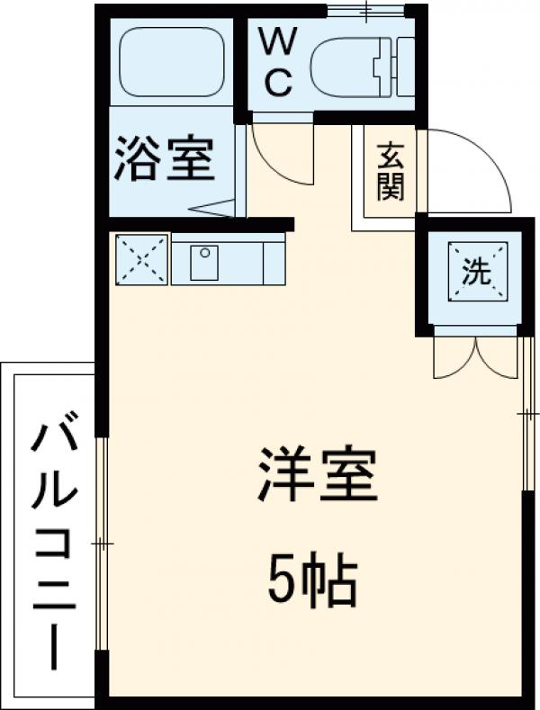 ブランシャトー久米田・605号室の間取り