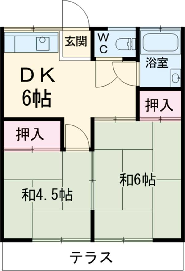 杉田荘・102号室の間取り
