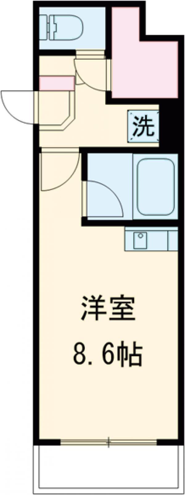 GATO D.M桜新町・406号室の間取り