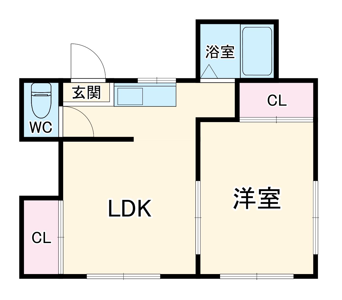 横須賀グリーンベース南棟 101号室の間取り