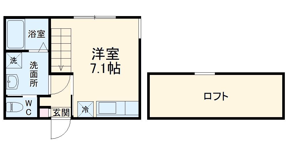 コスタ・コッレ白楽・201号室の間取り