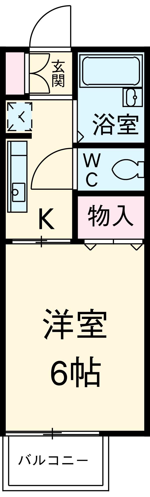 ピコハウス1号棟・101号室の間取り