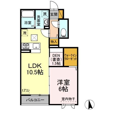 仮)D-room守谷市本町 南側敷地・102号室の間取り