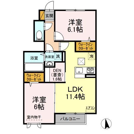 仮)D-room守谷市本町 南側敷地・103号室の間取り
