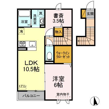 仮)D-room守谷市本町 南側敷地・202号室の間取り