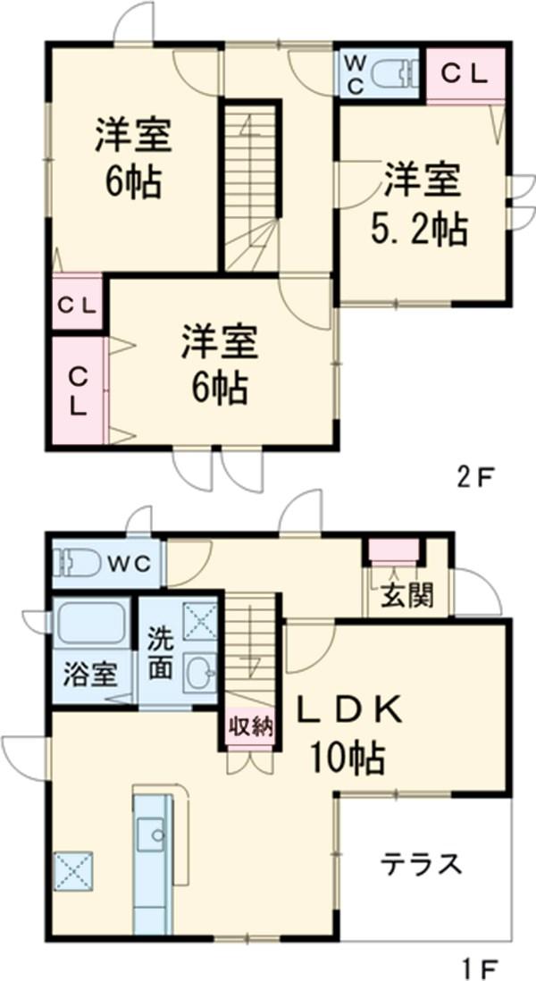 千代田5丁目K-BOX A棟の間取り