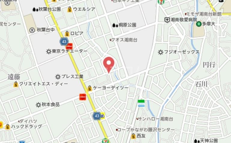 ソレア-ジュMK 02020号室の地図