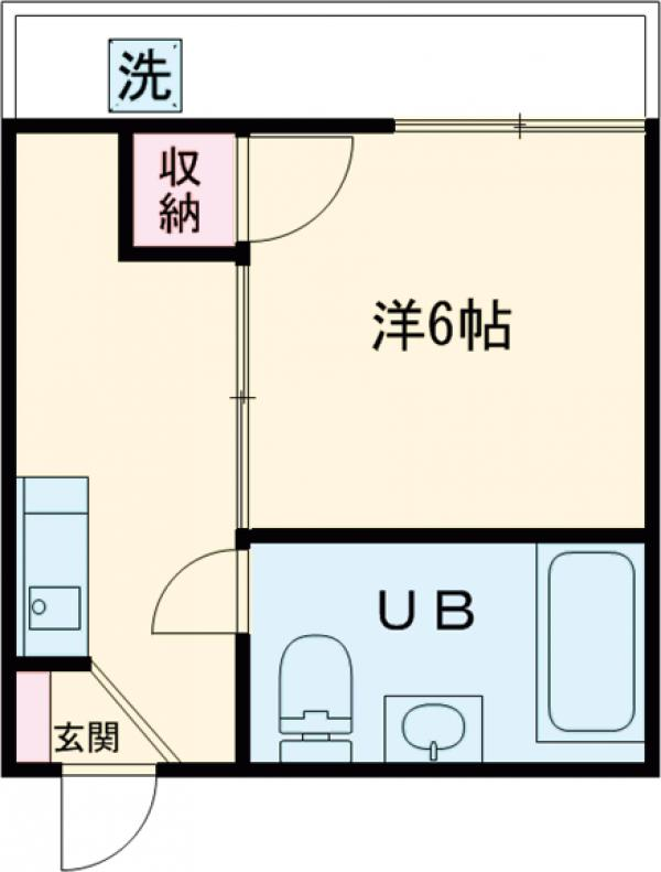メゾン長崎Ⅰ・201号室の間取り