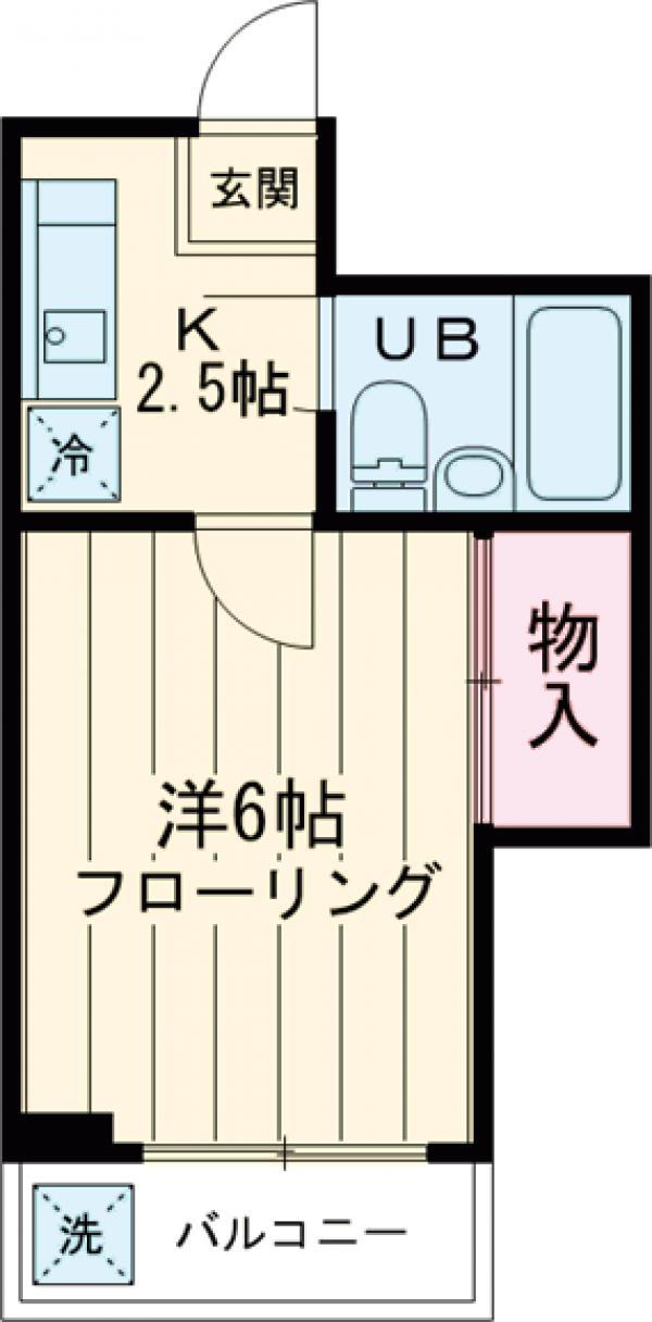 富士コーポラス・203号室の間取り