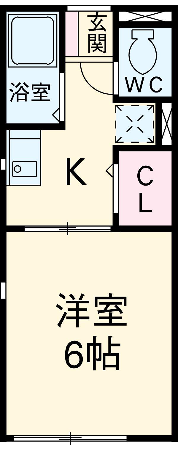 エトワール勝川 202号室の間取り