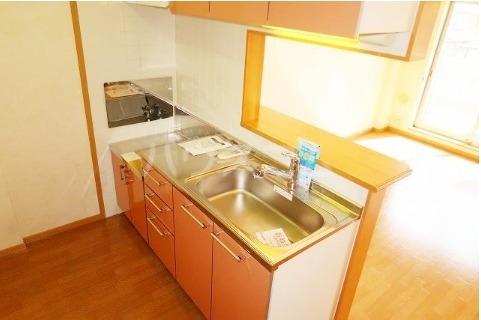 ボヌールフォンテーヌ 02040号室のキッチン