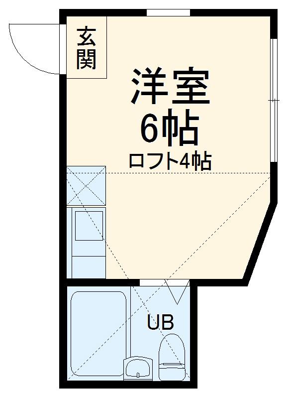 ユナイト南太田ジェラール・ピケ 107号室の間取り
