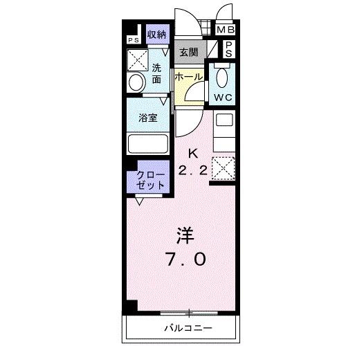 ボナール津久野・02020号室の間取り