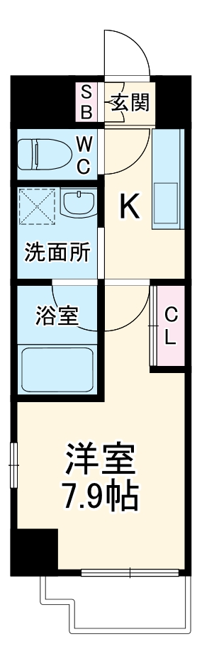S-FORT熱田六番・701号室の間取り