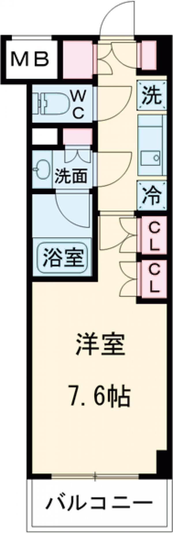 ザ・パークハビオ柿の木坂・102号室の間取り