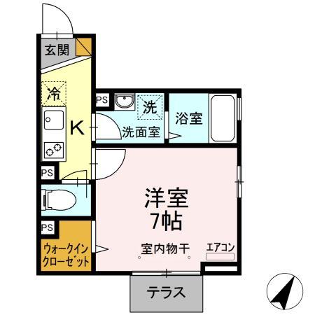 (仮称)D-room南柏・302号室の間取り