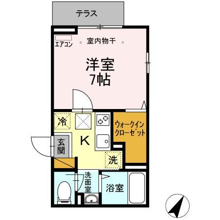 (仮称)D-room南柏・201号室の間取り