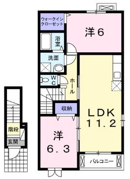 ヨットン・ハウスⅡ 02030号室の間取り