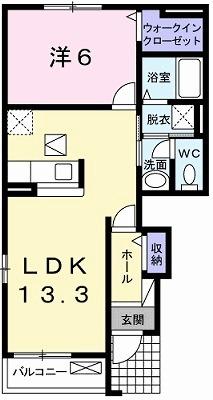 モクリカ-サ・01010号室の間取り