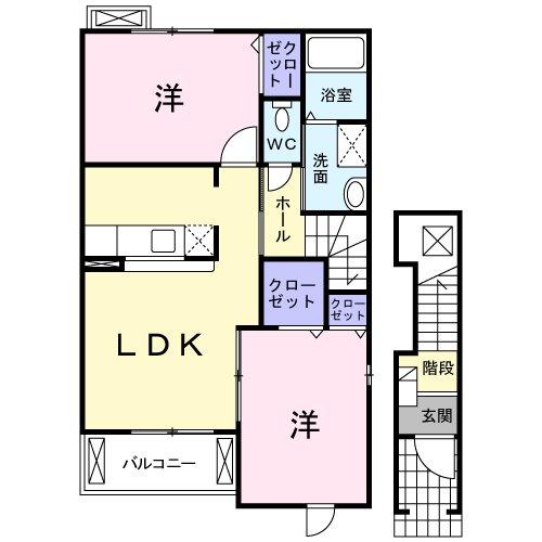 ポラリスハウスⅢ・02010号室の間取り