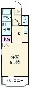 辻マンションA棟・2D号室の間取り