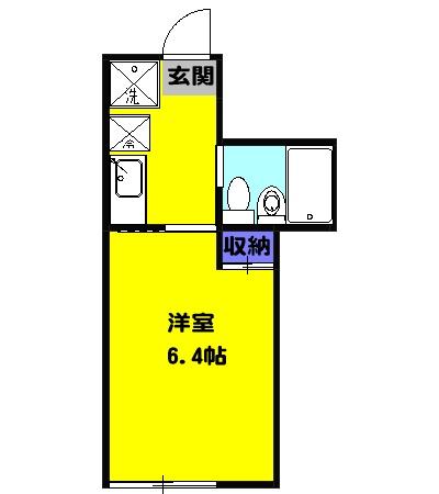 VILLA湘南・203号室の間取り