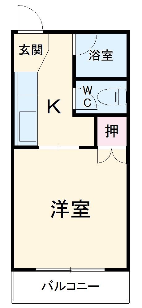 フォーブル藤井・105号室の間取り