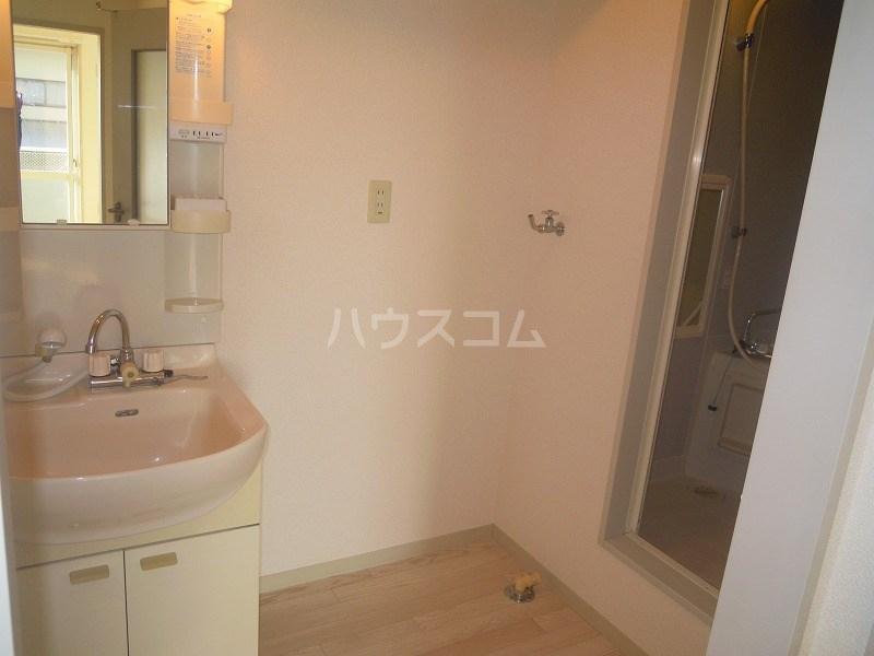 グリーンキャッスル 201号室の洗面所