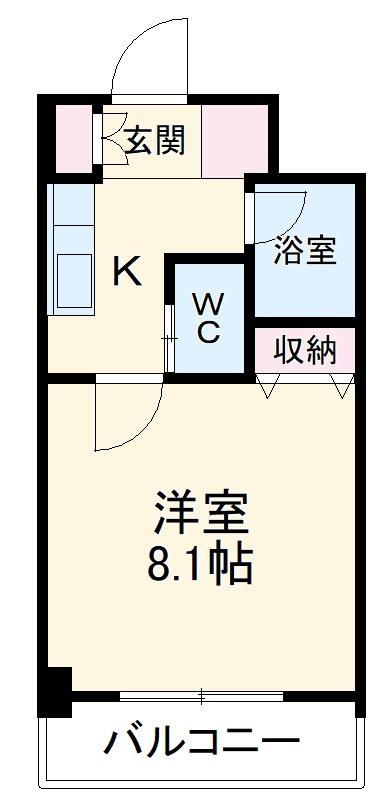プロシード太閤通 603号室の間取り