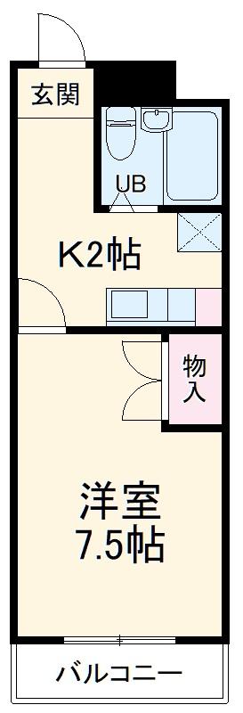 エコール松本・301号室の間取り