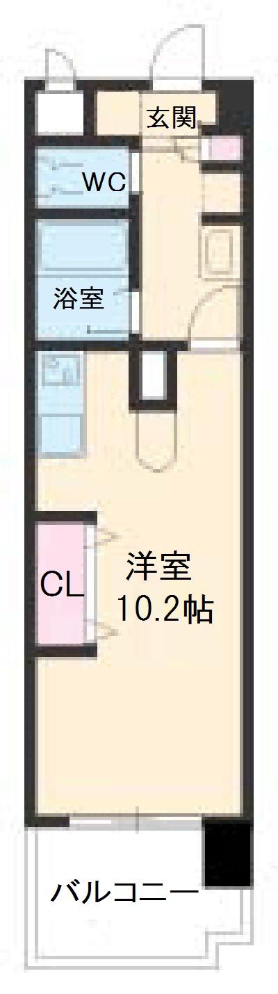 Wohnung K・606号室の間取り