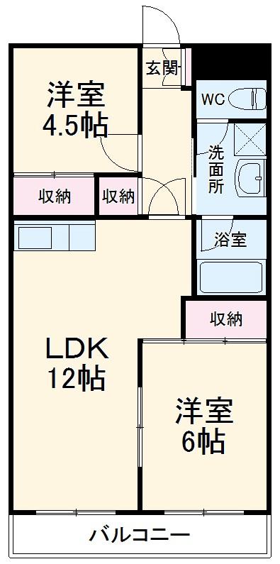 渋谷コート3号館・406号室の間取り