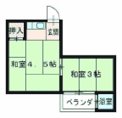 加藤アパート・1-1号室の間取り